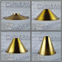 Antique brass finish iron lampshade 4 style edison pendant lamp shade DIY gold bronze lighting shade cone design your own light