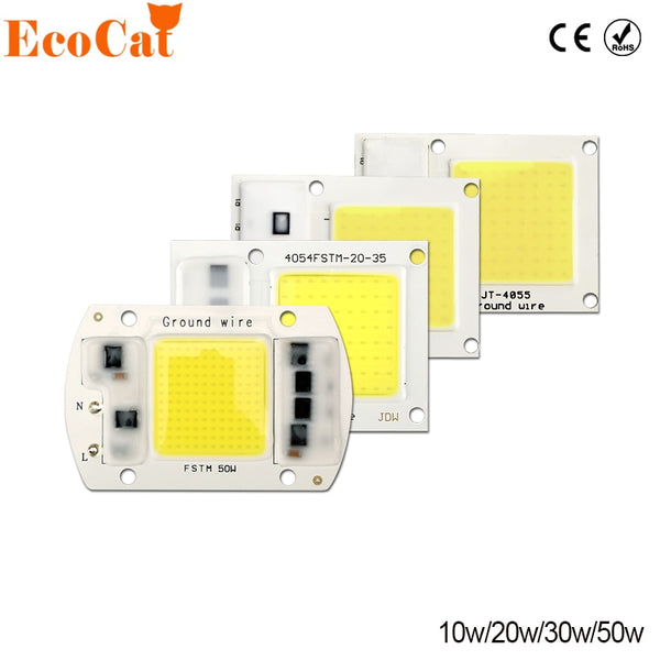 COB LED Chip 220V 50W 30W 20W 10W LED Matrix For Projectors Beads Cob Chip Spotlight for DIY Flood Light Outdoor Chip Lamp