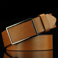Vintage leather men's casual synthetic style men belt cow genuine leather luxury strap male belts for men new fashion classic