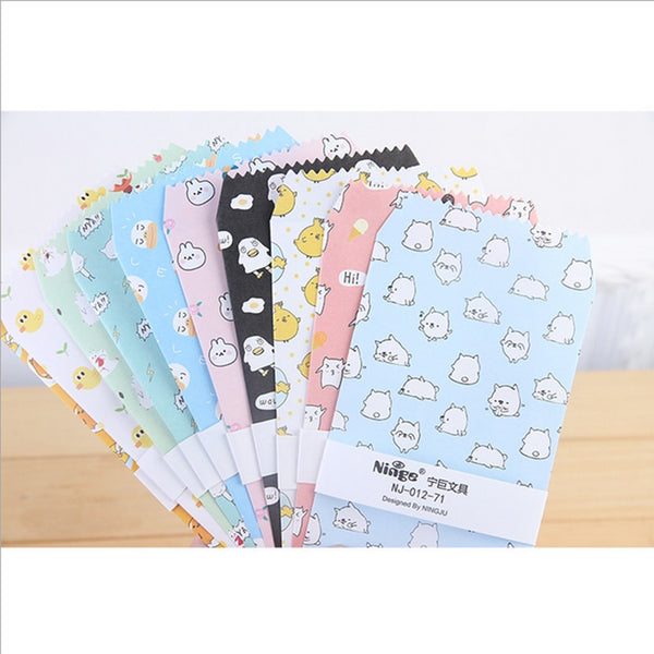 5pcs/lot Cartoon Cute eggs envelope writing paper stationery kawaii birthday christmas cpostcard Gift cards to friends