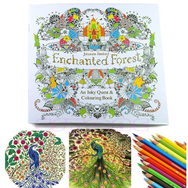 2018 High Quality New Children Adult Enchanted Forest English Version Drawing Coloring Book