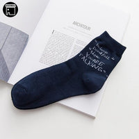USEEMALL 1 Pair Men Socks Cotton High Quality Trendy English Letter Socks Men Art Socks Fashion 2018 New
