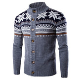 2018 New Men's Sweaters Muscle Slim Fit Cardigan Long Sleeve Autumn Winter Jacket Casual Coats Christmas Pattern Knitted Outwear