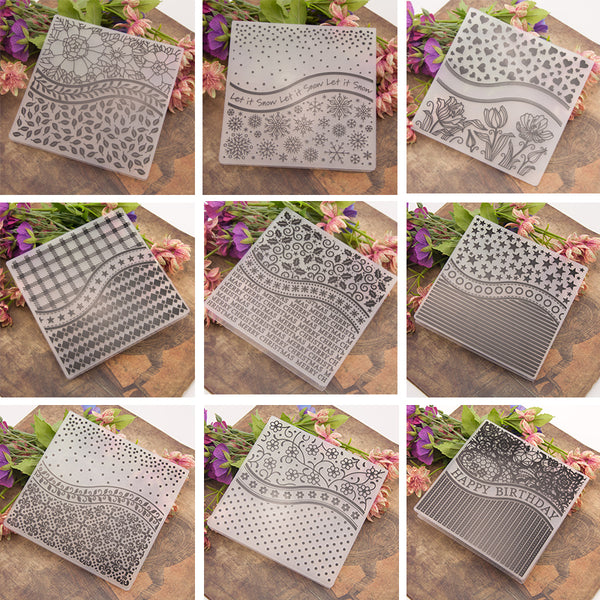NCraft Embossing folders EM101-EM120 Plastic Embossing Folder For Scrapbooking DIY Photo Album Card