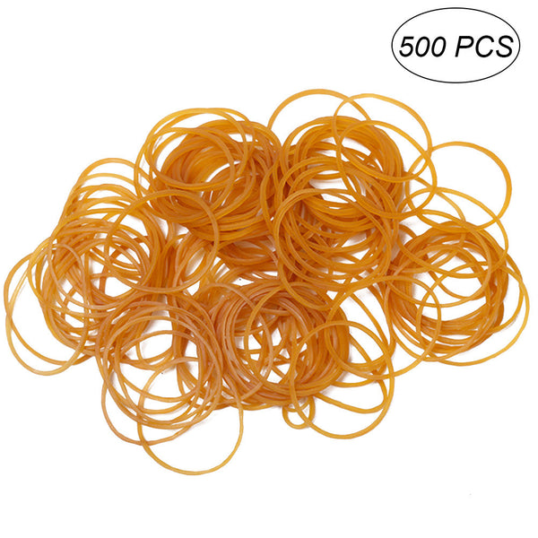 500pcs Rubber Bands Bank Elastic Rubber Bands Stretchy Rubber Ring for Paper Bills Money Fastening