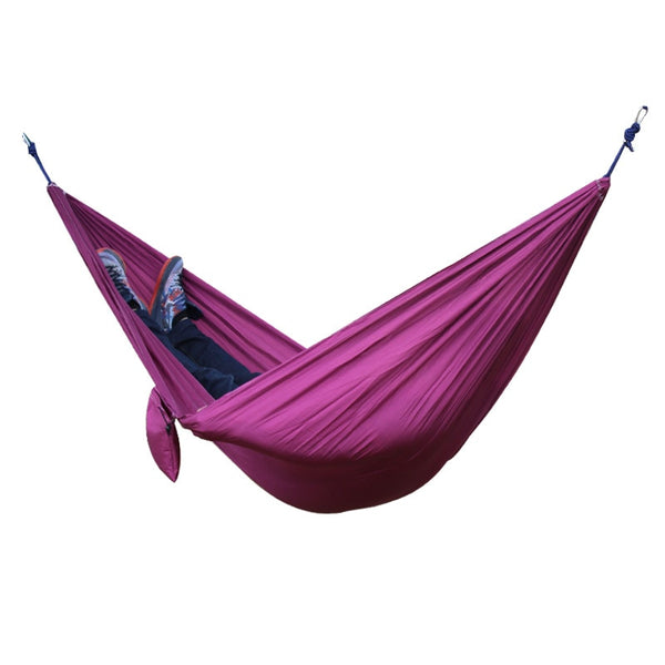 2 People Portable Parachute Hammock for outdoor Campingpurple 270*140 cm