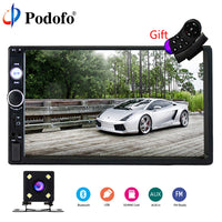 "Podofo 2 Din Car Radio 7"" Bluetooth Stereo Multimedia player Autoradio MP3 MP5 Touch Screen Auto Radio Support Rear View Camera"