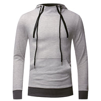 Fashion Basic Pure Color Men Sweatshirts Hiphop Pullover Hoodies Joggers Outwear Sweatshirts  Zipper Pullover Hoody Muscle Tops