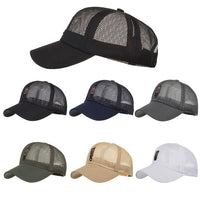 Fashion Women Men Adjustable Summer Solid Letter Cap Hats Baseball Hat Shade