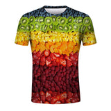 Mens Fashion Fruit 3D Printing Tees Shirt Short Sleeve T-Shirt Blouse Tops