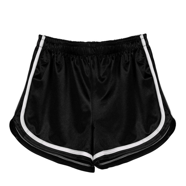 Fashion Women High Waist Yoga Sport Pants Shorts Shiny Pants Leggings