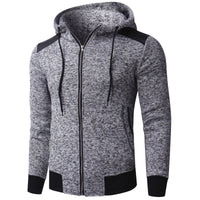 INCERUN Men's Hoodies Sweatshirts Winter Men Jacket Hooded Zip Up Knitted Casual Sweats Hoody Sweatshirt Fashion Outwear Hombre