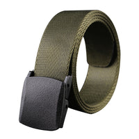 Man Military Style Canvas Web Belt Nylon Belt Casual Style Airport-friendly Automatic Buckle Tactical Belt