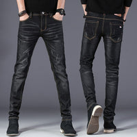 Free Shippinmg 2018 Men's Fashion Jeans Men In Summer And Autumn Men Outwear Jeans Cotton Pencil Pants D47