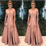 Elegant Mother of the Bride Dresses for Weddings Party Gowns A-Line Satin Pleat Formal Godmother Groom Long Dress Wear