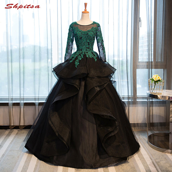 4dbd676da76fe Long Sleeve Ball Gown Princess Quinceanera Dresses Girls Beaded Masquerade  Sweet 16 Dresses Ball Gowns vestidos