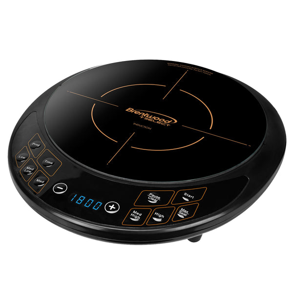 Brentwood Single Electric Induction Cooktop in Black