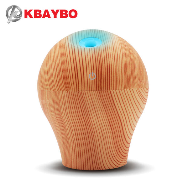 250ml USB Air Humidifier Essential Oil Diffuser Aroma Wood Lamp Aromatherapy Electric Aroma Diffuser Mist Maker for Home
