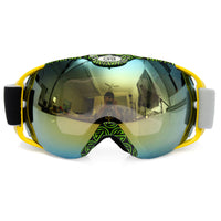 Professional Spherical Anti-fog UV Dual Lens Outdoor Snowboard Ski Goggle Glass