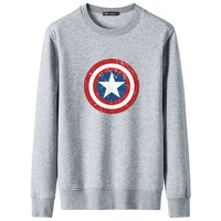 2018 Spring Fall Fashion hoodies Men Captain America Print Sweatshirt Pullover Harajuku Brand Cotton long sleeve man streetwear