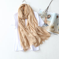 Chinese style new hot selling high quality in women's scarves simple fashionable elegant Long Elk head pattern scarves