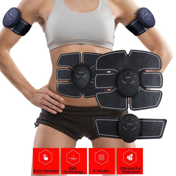 Durable Abdominal Smart Stimulator Training Fitness Gear Muscle Abdominal Exerciser Toning Belt Battery Abs Fit High Quality