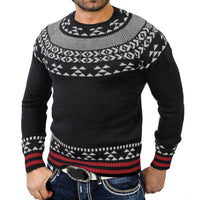 Men's Autumn Winter Solid Pullover Print Knitted Trutleneck Sweater Blouse Top