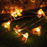 Binval Plastic Bee Lights Led Holiday Lighting Christmas String Lights Outdoor Wedding Party Tree Lights Garden Decoration
