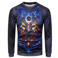 Fashion Mens Long Sleeve O-Neck Sweatshirt 3D Printed Causal Tops Blouse