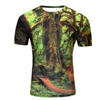 3D Men T Shirts Animal Short Sleeves Cotton O-Neck Groot Tiedye Personalized Tshirt Water Printed Teet shirt Men Clothes t shirt