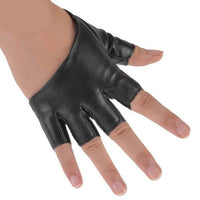 Fashion Half Finger PU Leather Gloves Ladys Fingerless Driving Show Gloves Hand Care Dance Accessories YRD