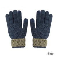 Evrfelan New Knitted Gloves For Women Men Winter Warm Screen Touchable Gloves Mittens  Solid Thick Soft Guantes