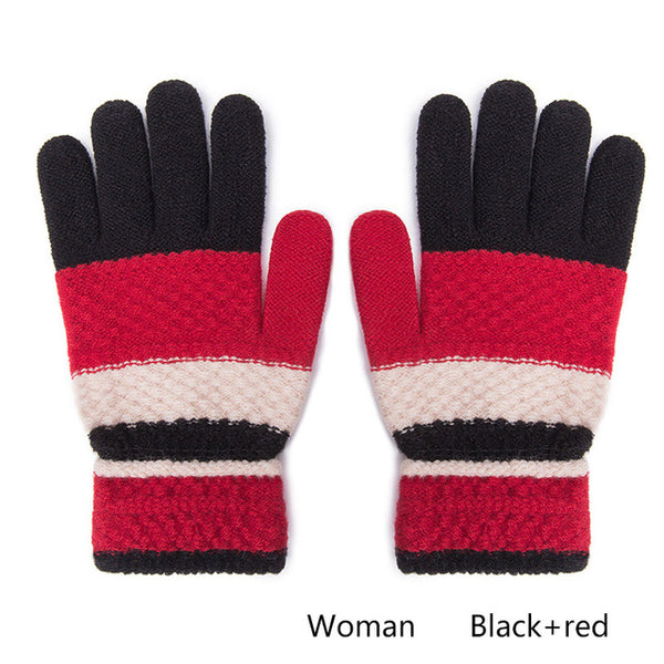 Evrfelan Fashion Gloves Women Mitten Warmer Women Winter Glove Knitted Fingerless Gloves Female Girl Hand Warmers guantes de muj