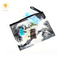 Oswego Tropical Style Cosmetic Bag Transparent Swimwear Makeup Bag Toiletry Brush Bags Organizer Necessary Case Wash Make Up Box