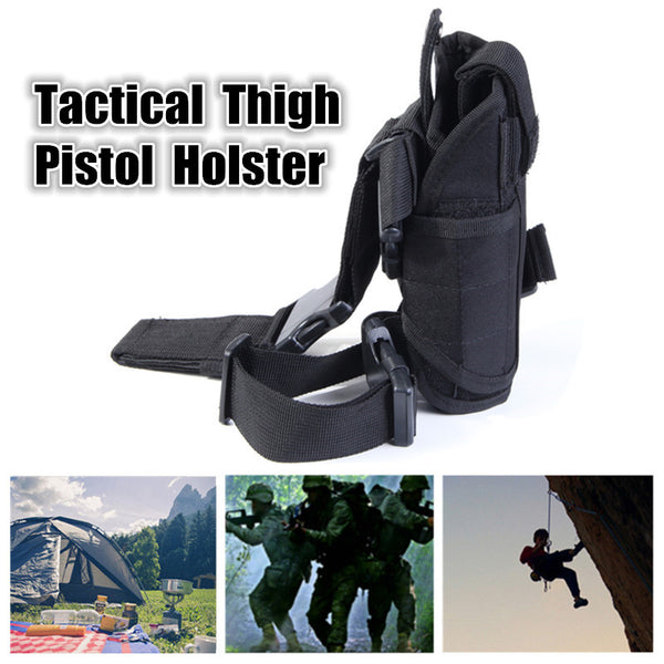 Tactical Hunting Army Pistol Revolver Drop Leg Thigh Holster Gun Pouch Holder