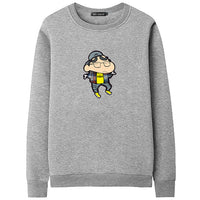 2018 New Style Men Patchwork Crayon shin-chan Printed Hoodies Fashion Design Men Sweatshirts moleton masculino Casual Streetwear