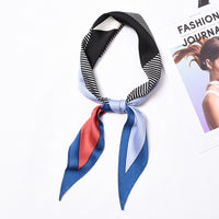 English alphabet Block Stripe pattern new hot Japanese and Korean British style cute simple elegant elegant scarf headkerchief