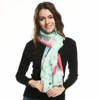 High Quality Hot Sale New Fashion Warm Women Flower Loop Scarf Female Small Rose Print Ring Scarves Infinity Shawl Wrap