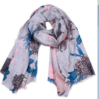 2018 New Fashion Cotton Printed Elegant Scarf Women Long Scarf Warm Wrap Shawl Female Fashion Design Charming
