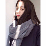 2018 Cashmere Fashion Scarf Women Ladies Men's Winter Warm Soft Shawls  Solid Tassel Long Scarves & Wraps