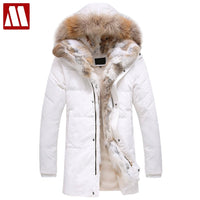 Fashion Brand Clothing Winter Warm Coat Man Bio Down Jacket Fur Hood Casual Outerwear Men's Thick Leisure Plus Size Down Coats