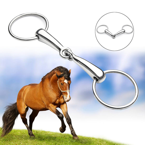 Shires Hollow Mouth Equestrian Loose Ring Snaffle Horse Bit Stainless Steel