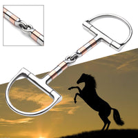 Equestrian D Ring Horse Snaffle Bit Copper Roller Jointed Light Stainless steel