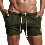 2018 New Fashion Men's Shorts Bermuda Beach Joggers Bodybuilding Gyms Elastic Waist Solid Boardshorts Masculino Casual Shorts