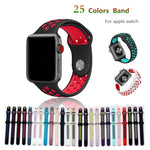 Silicone strap for apple watch band 42mm 38mm bracelet sport wrist watch belt Rubber watchband for iwatch 3/2/1 Nike+metal knot