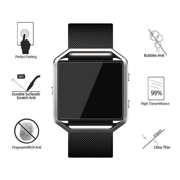 3x Premium Real Tempered Glass Film Screen Protector For Fitbit Ionic Watch