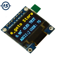 "0.96 inch IIC SPI Serial 128X64 Yellow Blue OLED Display Module I2C LCD Screen Board 0.96"" SSD1306 for Arduino/stm32/51"