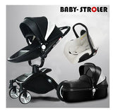 Free Shipping Aulon Luxury Baby Stroller 3 in 1 Fashion Carriage European Pram Suit for Lying and Seat