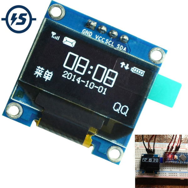 "0.96 inch IIC Serial White OLED Display Module 128X64 I2C SSD1306 LCD Screen Board GND VCC SCL SDA 0.96"" Oled I2C for Arduino"