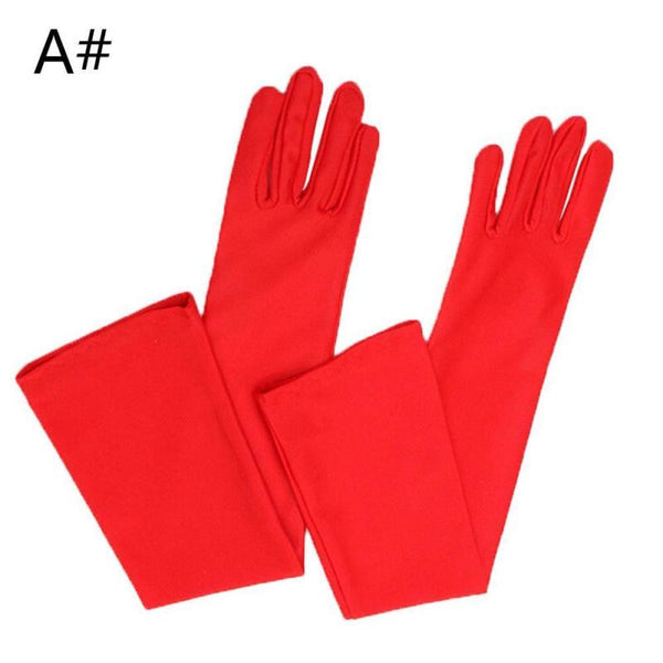 1Pcs Sexy Elbow Length Satin Gloves for Womens Wedding Costume